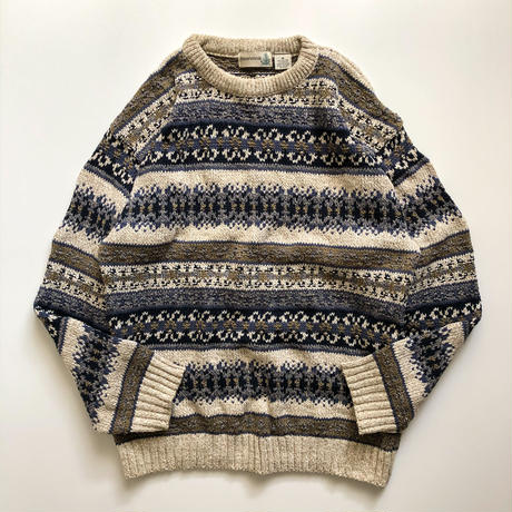 1990's patterned allover design sweater made in USA