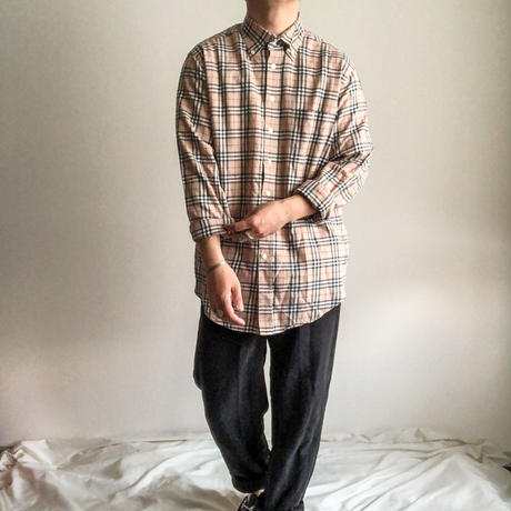 """Burberry"" nova check pattern  BD L/S shirt"