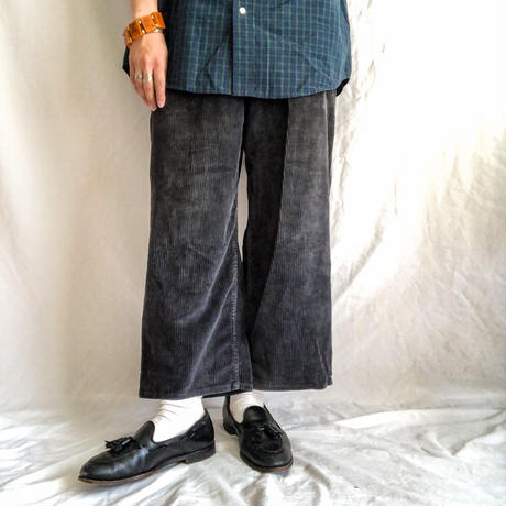 1970's~1980's  corduroy cropped wide pants made in Mexico