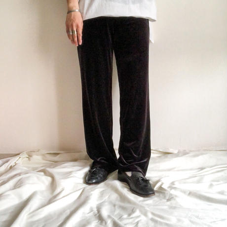 2000's~ black velour easy pants