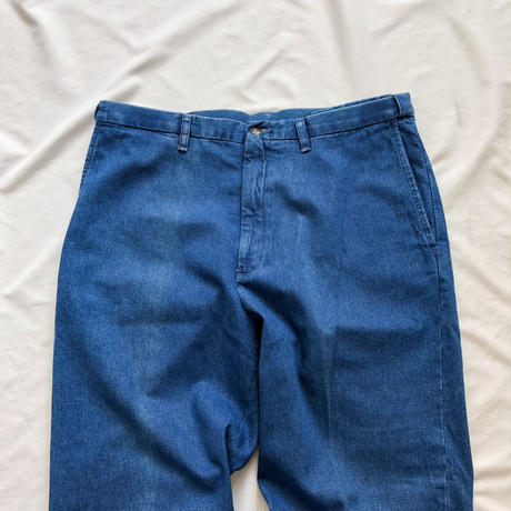 1990's~ bigsize denim slacks