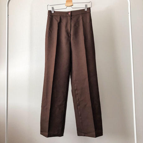 Vintage 1970's~ chocolate brown cropped slacks made in USA