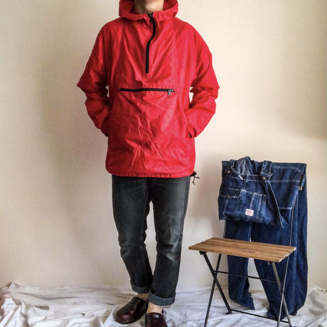 1980's~ L.L. Bean red nylon anorak parka made in USA
