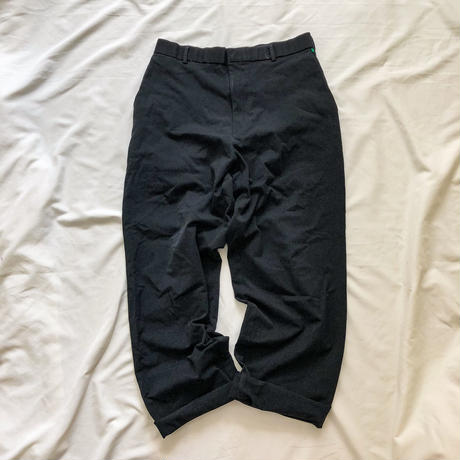 1990's~ black solid tuck slacks