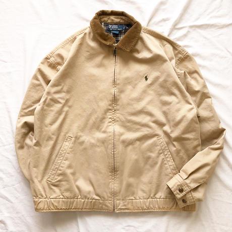 1990's~  Polo Ralph Lauren ポロラルフローレン コーデュロイ襟 ドリズラージャケット / 古着 ビンテージ