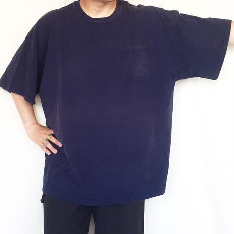 FRUIT OF THE ROOM ネイビー ビッグサイズ ポケTee / 古着 ビンテージ Tシャツ