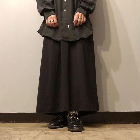 old ブラック クロップド ワイドパンツ  / 古着 ビンテージ