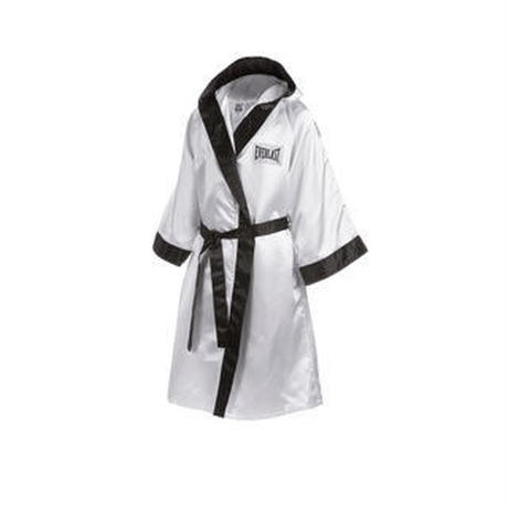 FULL LENGTH ROBE WITH HOOD(WHITE×BLACK)