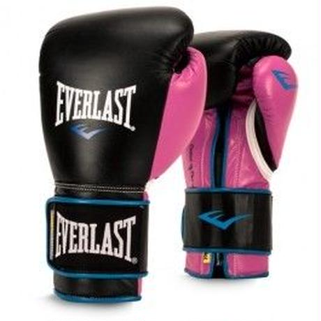 WOMEN'S POWERLOCK HOOK & LOOP TRAINING GLOVES WITH SYNTHETIC LEATHER(BLACK/PINK)