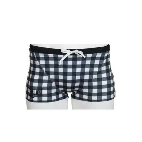 GINGHAM CHECK SHORT BOX(BLACK)EL52926