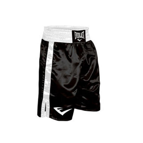 "BOXING TRUNKS, 24"" LENGTH(BLACK×WHITE)"
