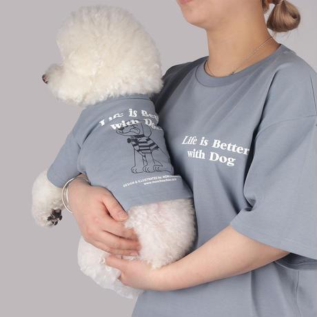 【オーナー様用】Life is Better with Dog T-shirt for man-Air Blue