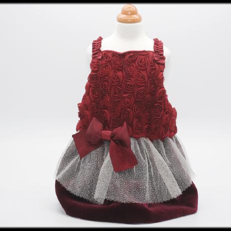 Velvet and roses dress