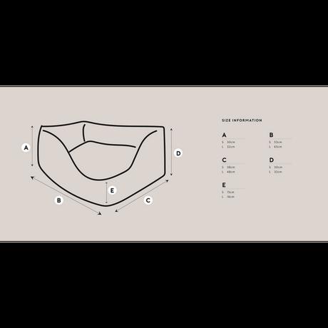 Linen Ruffle Cushion Gray_Large Size
