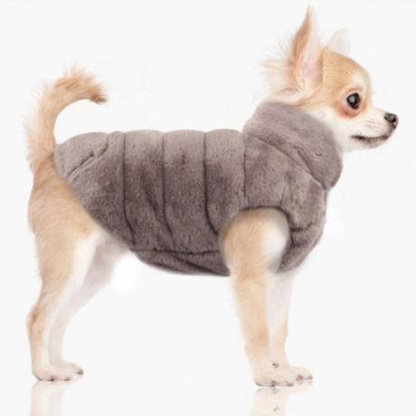 Grey/Pink Enya Reversible Puff Jacket 23/26