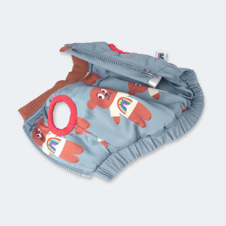 Dumn Bear Polka Dots Jacket_Lazy Blue