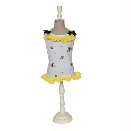 2037 DRESS MELANIA-WHITE/YELLOW