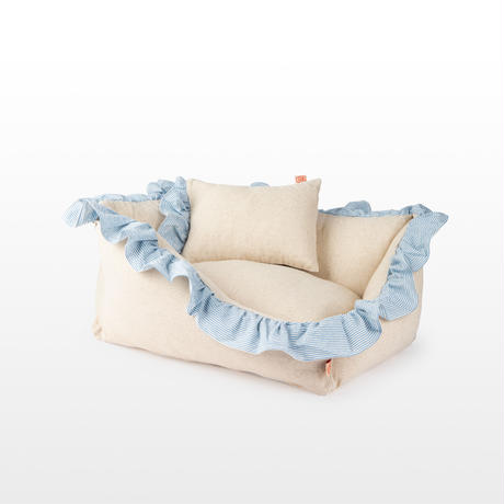 Linen Ruffle Cushion Stripe_Small Size