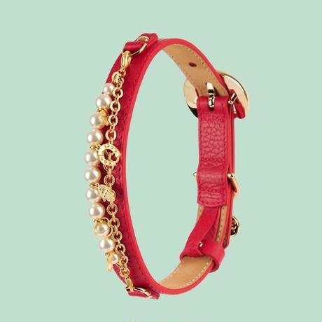 Monalisa Dog Collar RED
