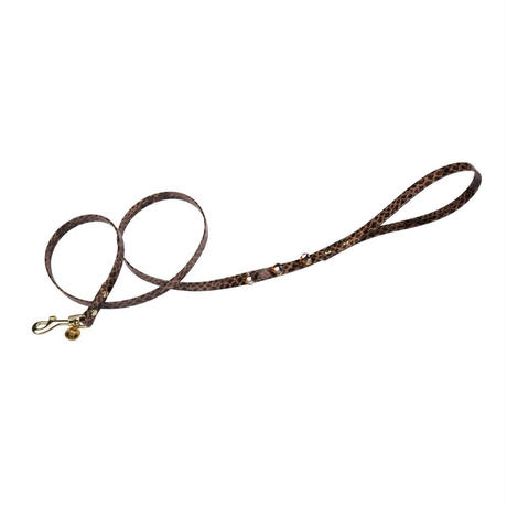 Leash 1.3cm DIAMOND Lizard Hide