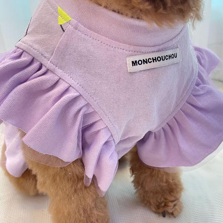 10yrs Young Dog Frill Top Violet
