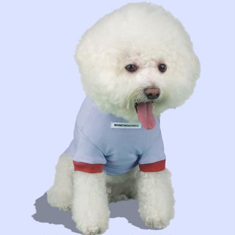 TEN YEARS YOUNG DOG Sleeve Tee  Light Blue