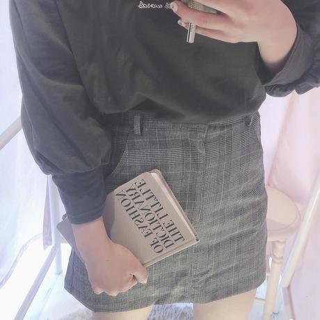 グレンチェック台形スカート
