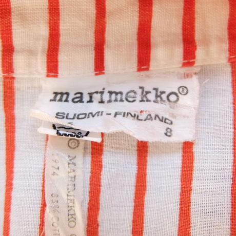 マリメッコ marimekko ヴィンテージ 立ち襟ブラウス