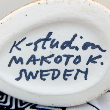 ケラミックステュディオン Keramikstudion X 鹿児島睦 エンリトゥンヴァン フラワーベース(とり・ブラウン)新品