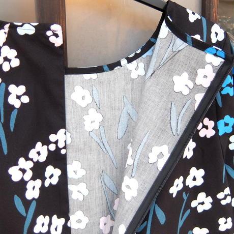 マリメッコ marimekko <Lemmikki>七分袖ワンピース  大きなサイズ