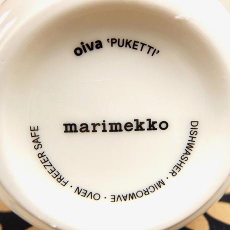 マリメッコ marimekko <Puketti>マグカップ(ベージュ)日本限定