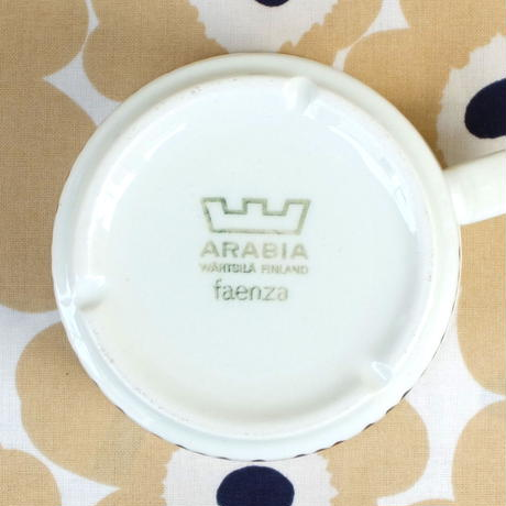 ARABIA アラビア ファエンツァ(ブラウン)カップ&ソーサー(大)