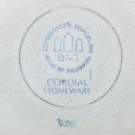 ビング・オー・グレンダール Bing&Grondahl コーディアル プレート(L)