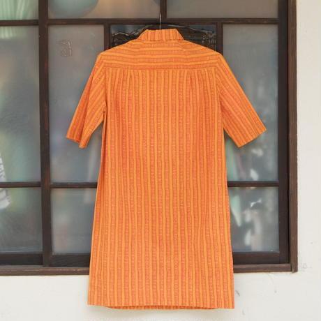 マリメッコ marimekko ヴィンテージ シャツワンピース(オレンジ)