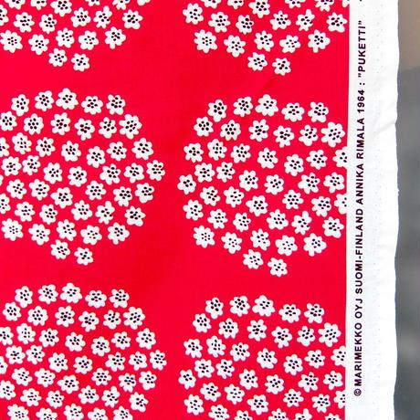 マリメッコ marimekko <Puketti>ファブリック(レッド×パープル)50cm フィンランド限定
