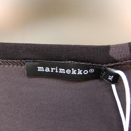 マリメッコ marimekko <Pieni Unikko>七分袖ワンピース(チャコールグレー×ブラック)大きなサイズ