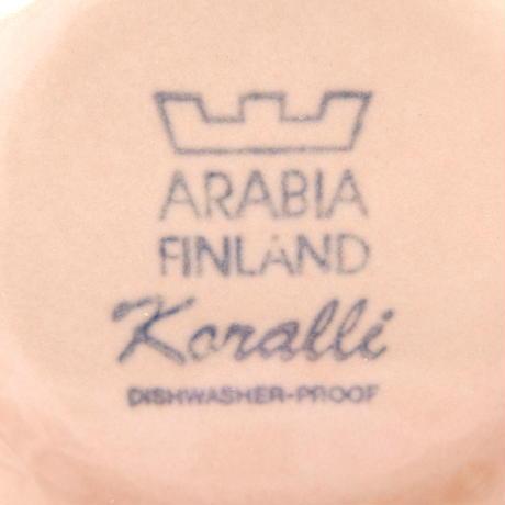 ARABIA アラビア コラーリ コーヒーカップ&ソーサー(b)