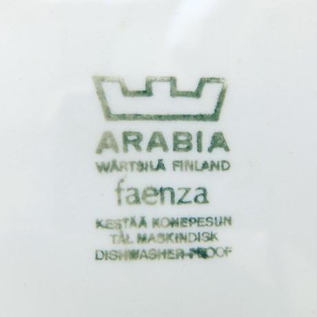 ARABIA アラビア ファエンツァ(ブラウン)プレート(S)