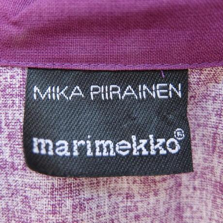 マリメッコ marimekko <Lanketti>シャツ(パープル×オレンジ)廃盤