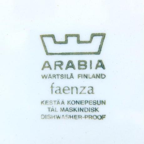 ARABIA アラビア ファエンツァ(ブルー)プレート(M)
