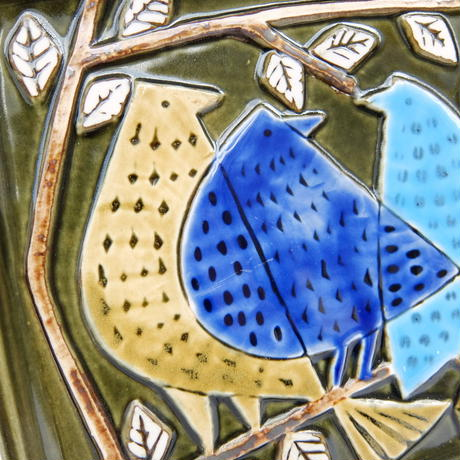 ヴィンテージ リサ・ラーソン 陶板(鳥)