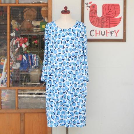 マリメッコ marimekko <Vikuri>七分袖ワンピース 大きなサイズ