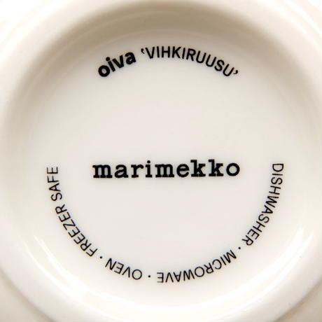 マリメッコ marimekko <Vihkiruusu>ボウル(グリーンライン)日本限定