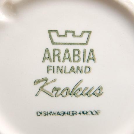 ARABIA アラビア クロッカス(モノクロ)カップ&ソーサー(中)(a)