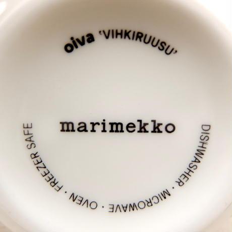 マリメッコ marimekko <Vihkiruusu>マグカップ(グリーンライン)日本限定