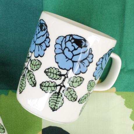マリメッコ marimekko <Vihkiruusu>マグカップ(スカイブルー)