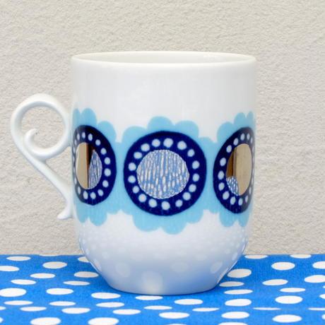 ARABIA アラビア タニア(水色)コーヒーカップ&ソーサー