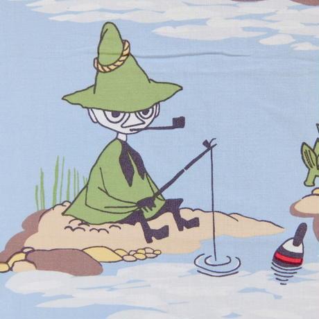 ムーミン Moomin  ヴィンテージ・ファブリック(池で遊ぶ)