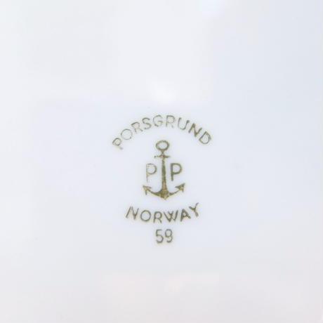 ポシュグルン Porsgrund プレート(えんじ)(b)
