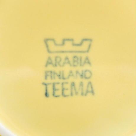 ARABIA アラビア ティーマ カップ&ソーサー(S)(b) イエロー